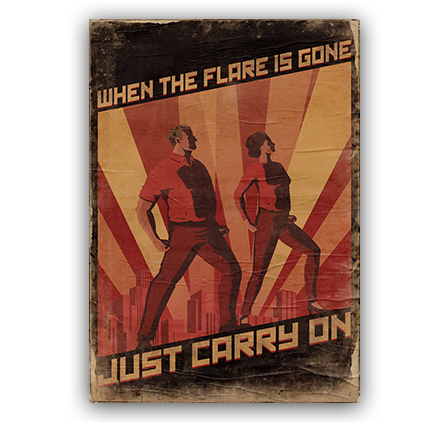 When the flare is gone, just carry on